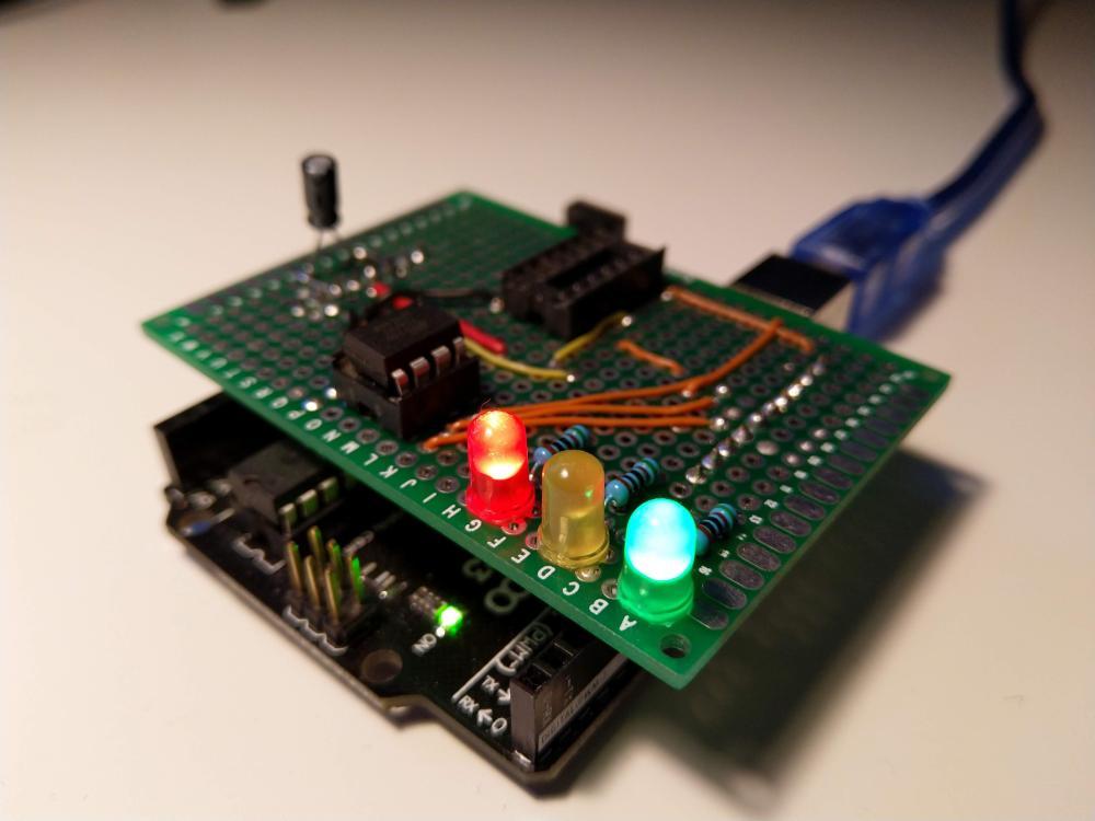 medium resolution of a tiny project attiny84 85 programmer shield for arduino uno