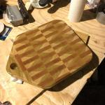 End Grain Cutting Board I Made For A Friends Wedding Present I Am Still A Complete Novice And I Spent Several Hours Sanding This Thing Red Oak And Poplar Woodworking