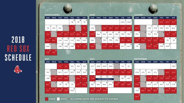 red sox schedule # 9