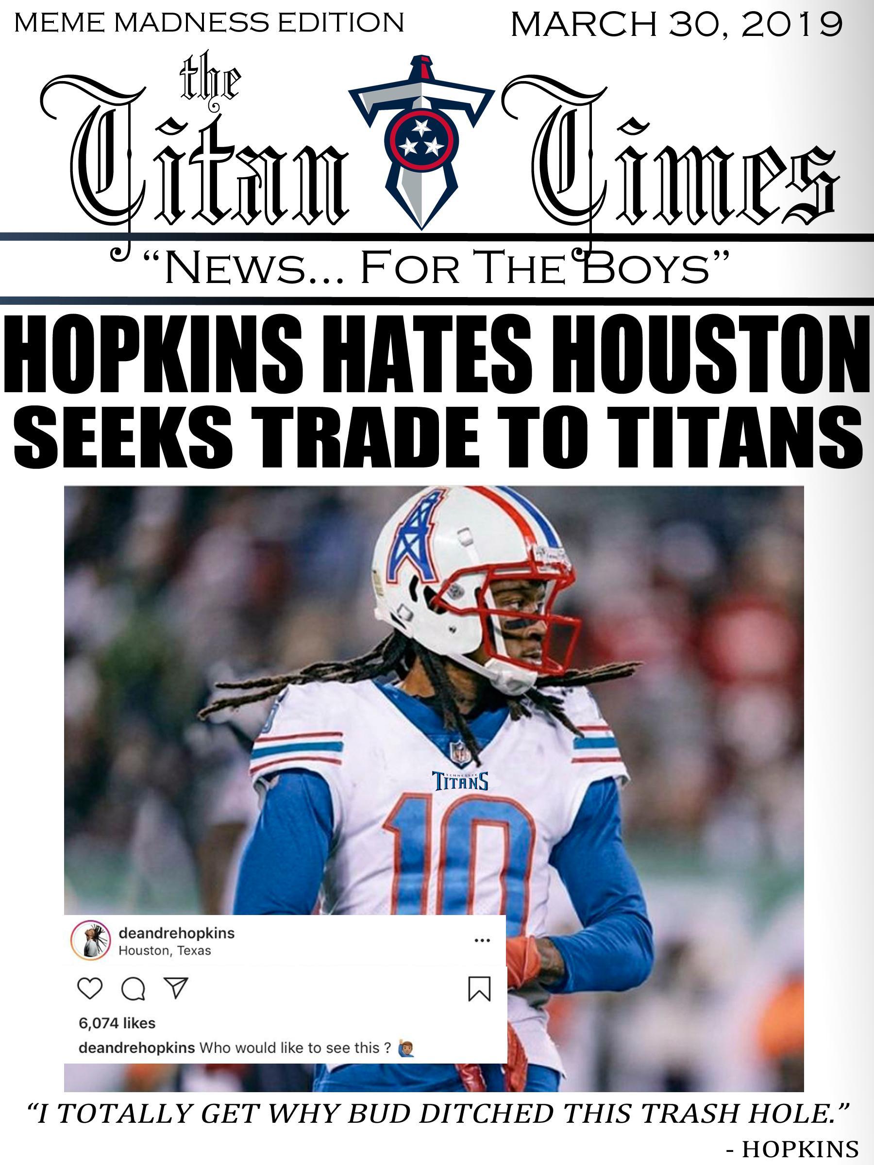 Tennessee Titans Memes 2019 : tennessee, titans, memes, Tennesseetitans