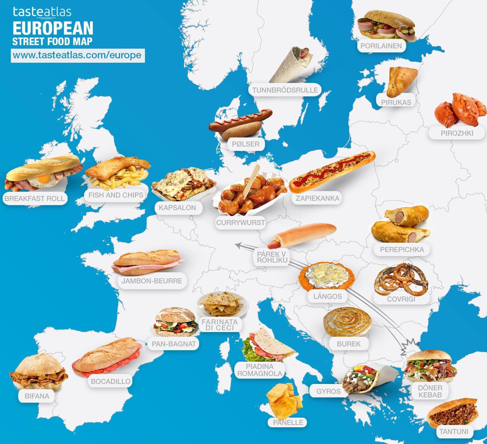 European Street Food Map Europe