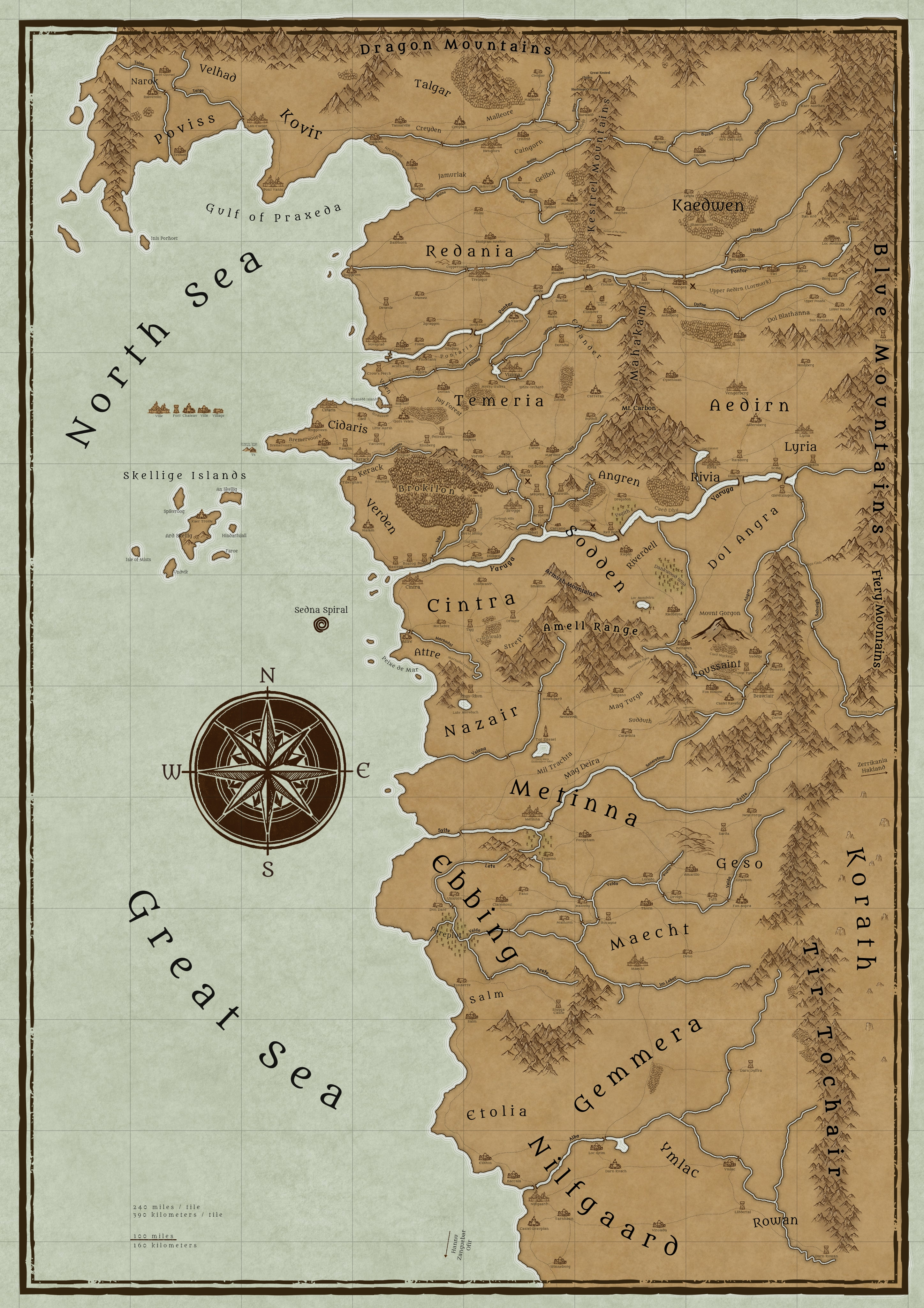 Witcher 3 Toussaint Map : witcher, toussaint, Continent, Witcher, Inkarnate