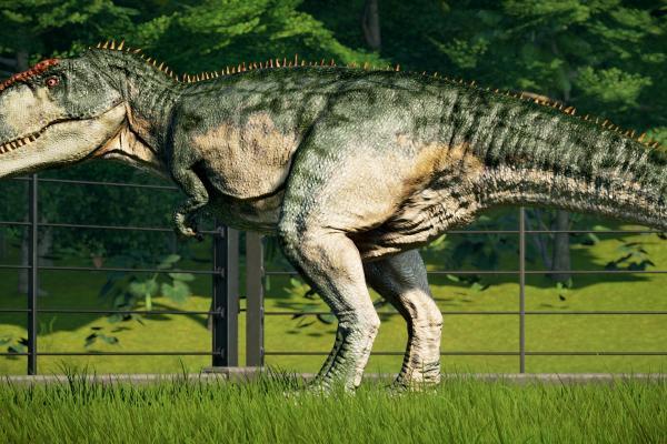 Green and tan Giganotosaurus Skin : jurassicworldevo