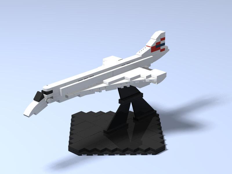 mini british airways concorde
