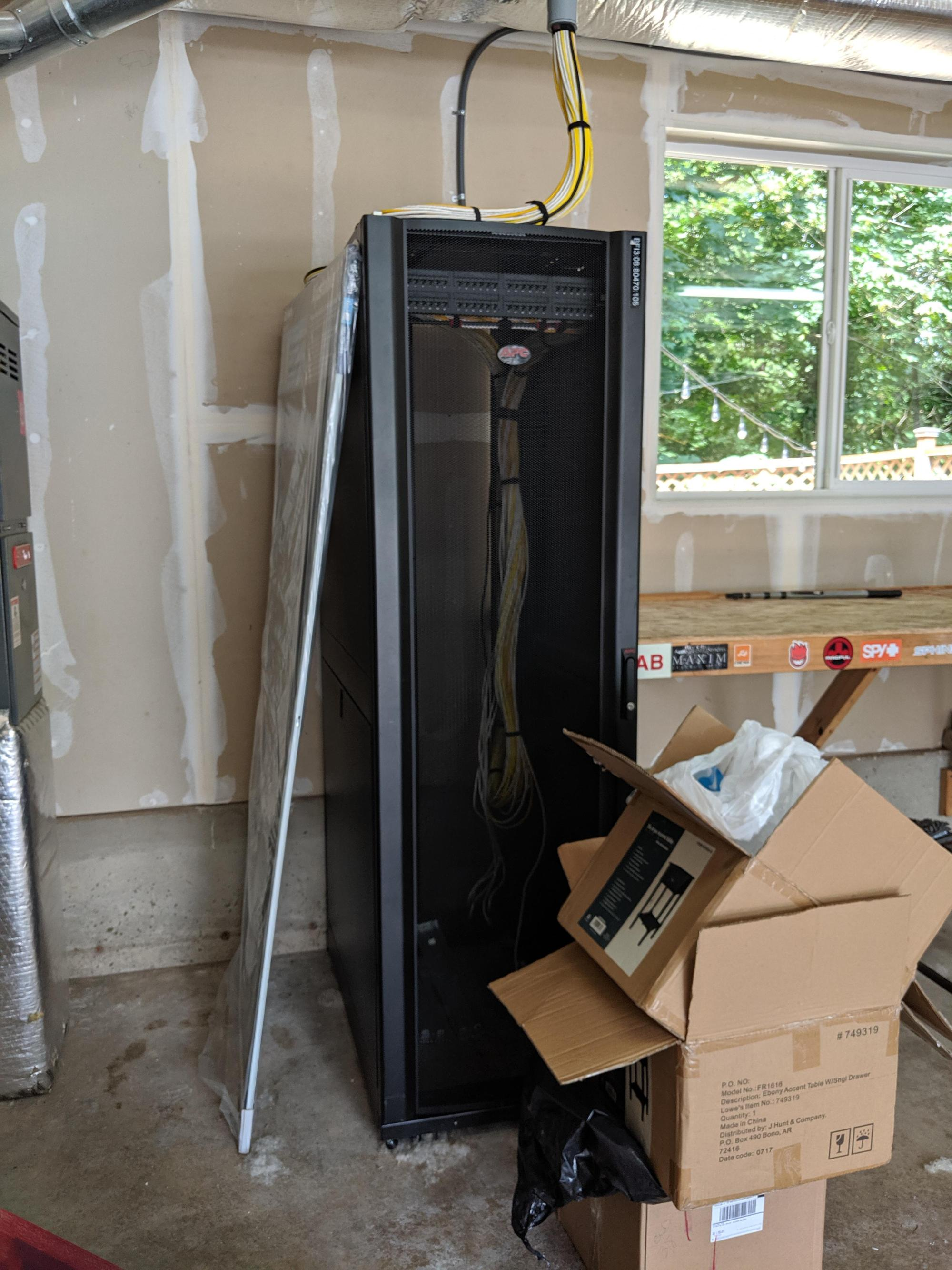 hight resolution of server rack in new house garage what should i do with it