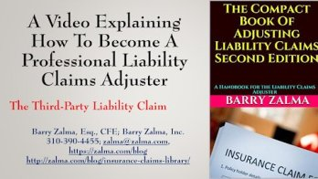 A video explaining how to become a professional claim adjuster