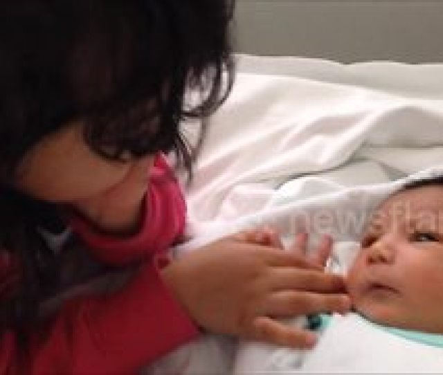 Sister Meets Her Baby Brother For The First Time Video