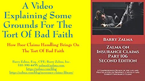 A video explaining some grounds for the damage of bad faith