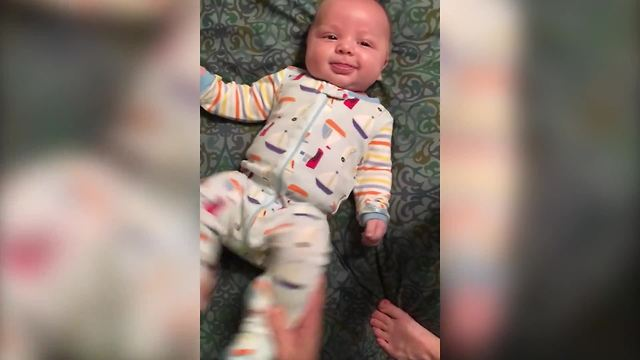 cute baby dances to