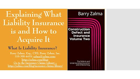 A video explaining what liability insurance is and how to acquire it