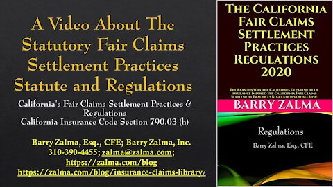 A video on statutory justice statutes and regulations for conciliation [19659027] A video explaining ethics and the public insurance adjuster </p> <p> <img class=