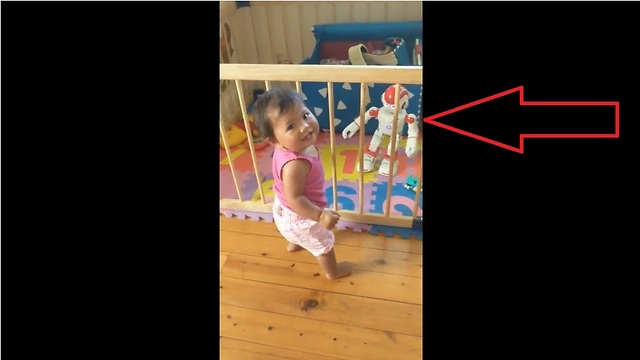 baby dances along to