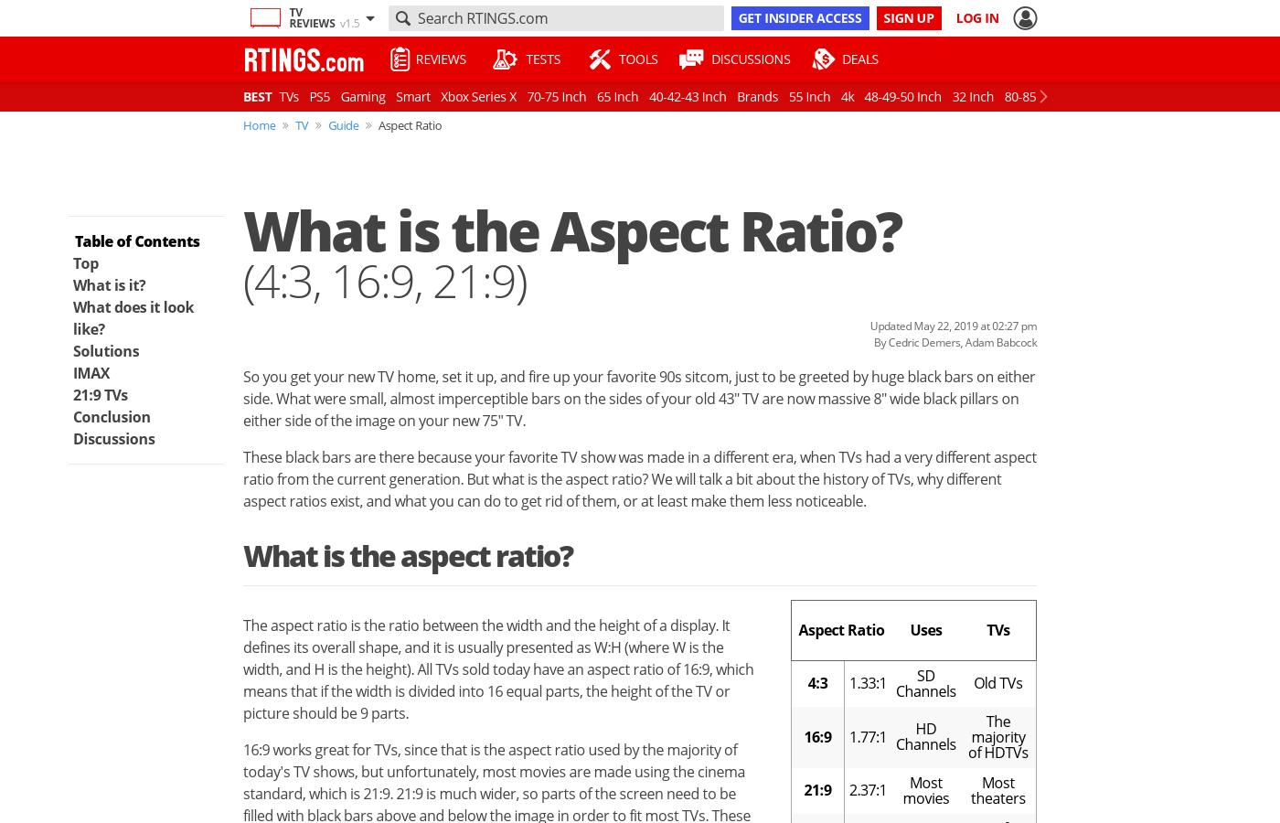 the aspect ratio 4 3 16 9 21 9