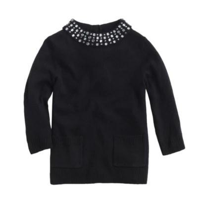 Girls Sparkle Collar Sweater JCrew