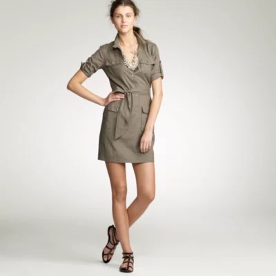 Silk Cargo Dress JCrew