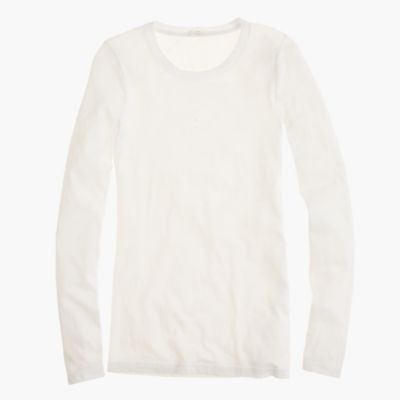 Tissue Long Sleeve T Shirt Womens Tees JCrew