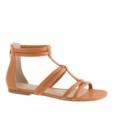 Back Zip Sandals JCrew