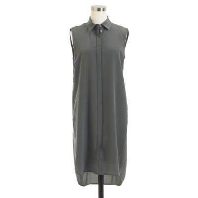 Silk Sleeveless Dress .crew
