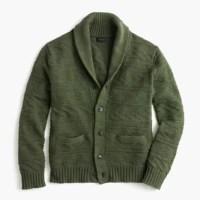 Cotton guernsey shawl-collar cardigan sweater : | J.Crew