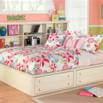 Signature Design By Ashley Cottage Retreat Bed With Bookcase Twin Cream Cottage