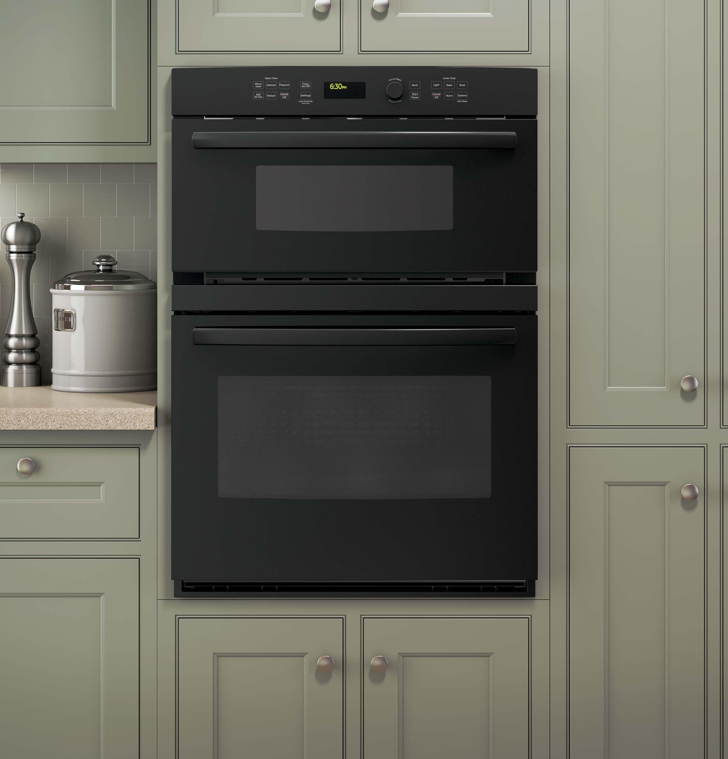 ge appliances jt3800dhbb 30 built in combination microwave electric oven black