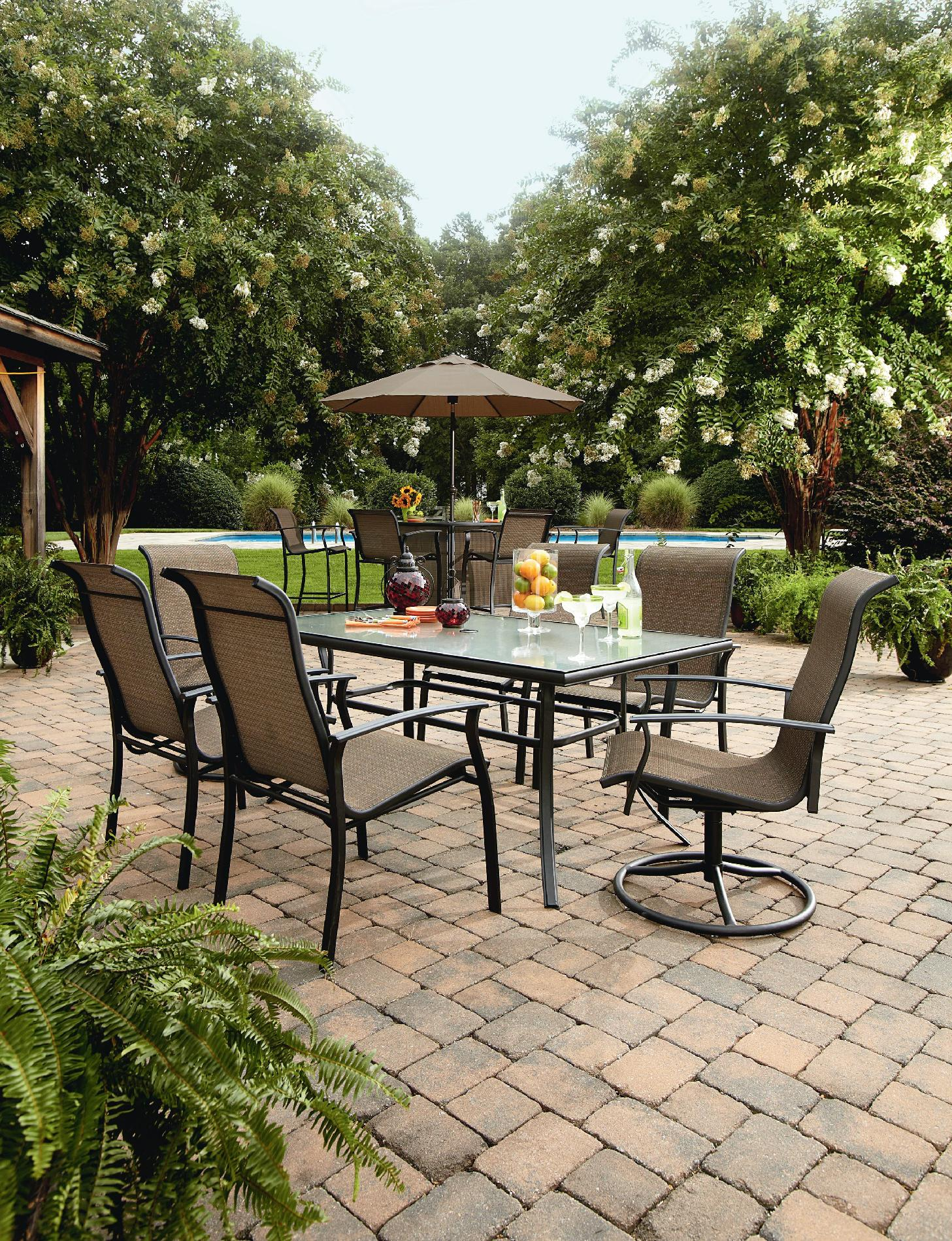 garden oasis patio chairs chair design line harrison 5 piece bar set outdoor living