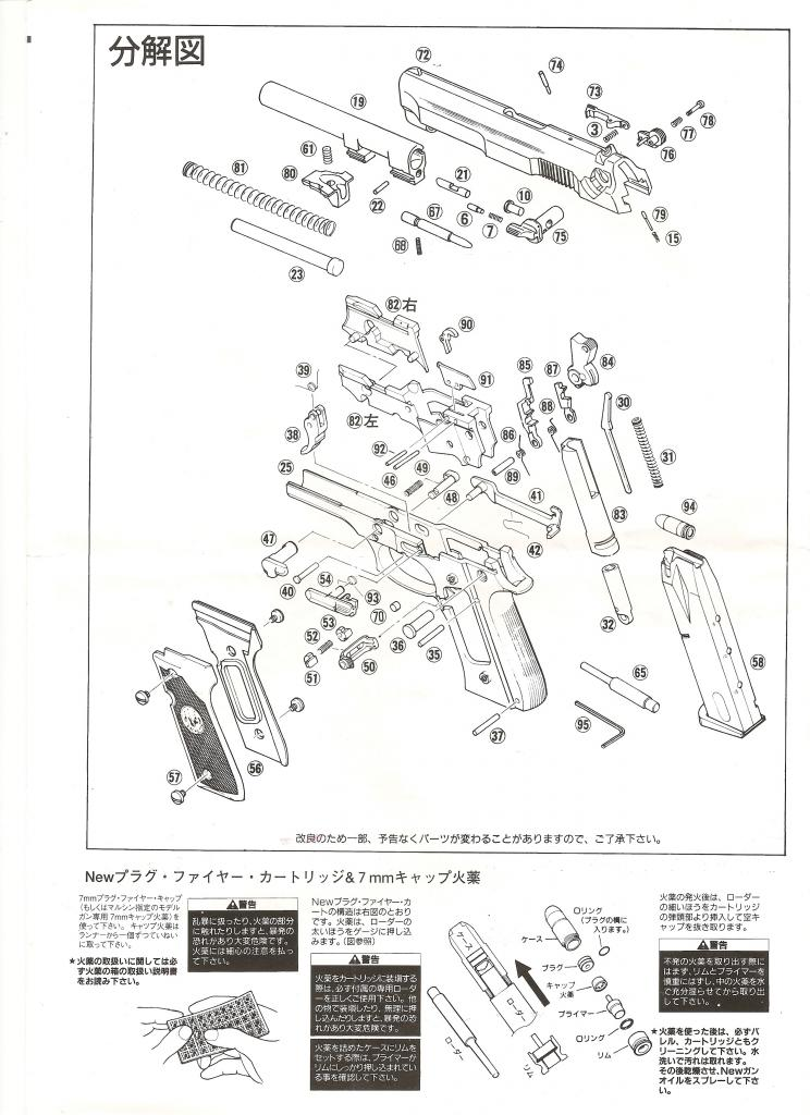Marushin Beretta M9 Dolphin Instruction Manual