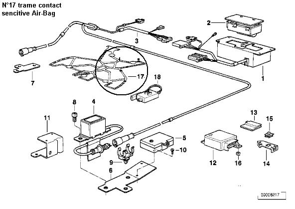 [E34 525 tds touring an 95] Problème voyant allumage air bag