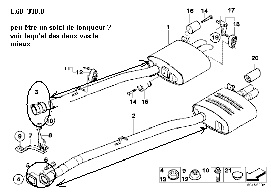 [ BMW E39 530d an 2003 ] Comment monter une double sortie