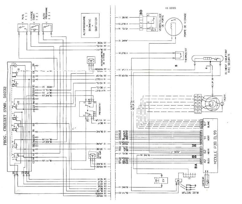 alpina schema cablage moteur lave