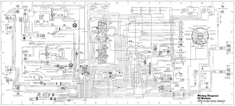 Problème électrique ( câblage) jeep cj7