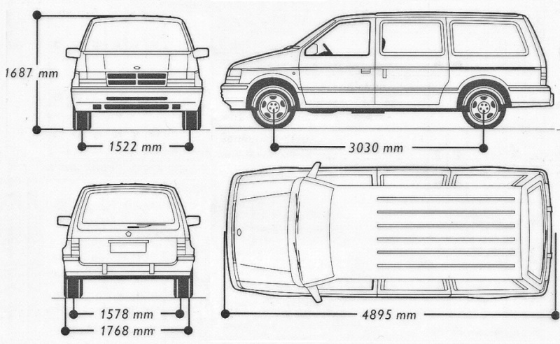 Chrysler Voyager gen1995: grand ou normal