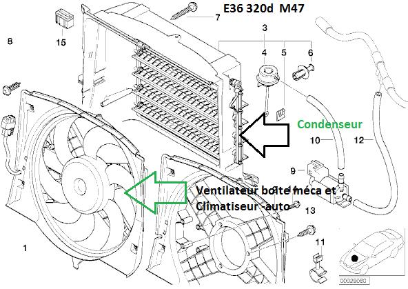 [ BMW E46 320D M47 an 1998 ] ventilateur refroidissement