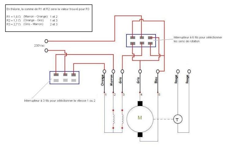 aro schema cablage moteur lave