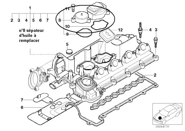 [ BMW E46 320D an 2001 ] durite de la vanne egr qui se