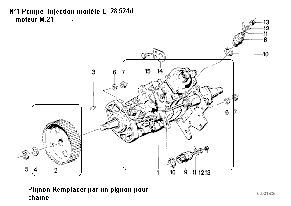 [ Bmw E34 525 tds touring an 1996 ] probleme pompe a injection