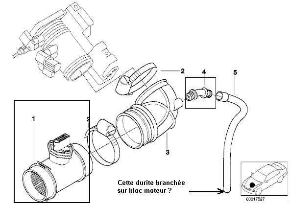 [ bmw e46 316i M43 1,9L an 2000 ] ventilation du carter
