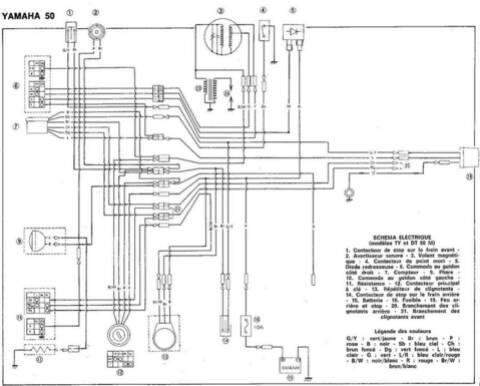 Schema Electrique Yamaha Dt 50 R