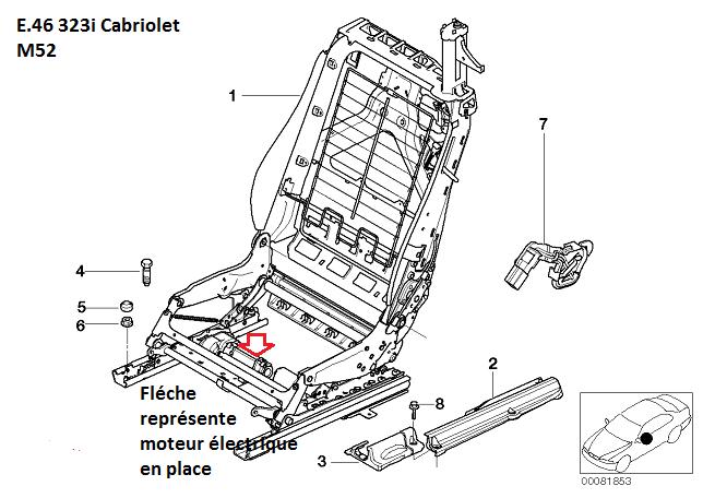 [ BMW E46 323 CI CAB an 2000 ] problème sièges électrique.