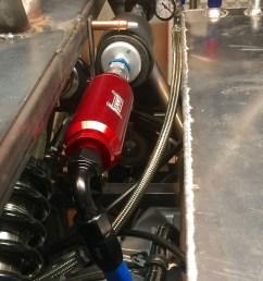 summit fuel filter inline mount billet aluminum black  [ 800 x 1119 Pixel ]