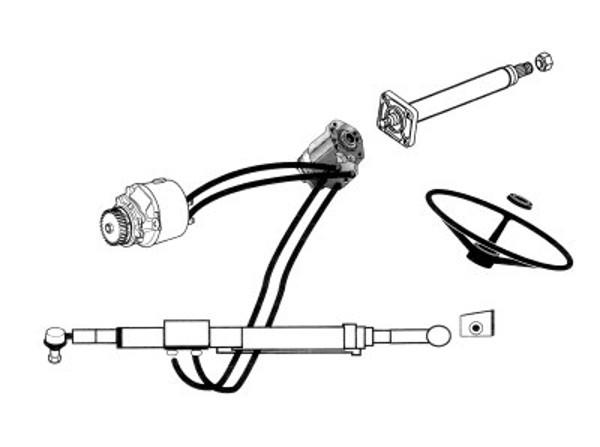 Dirección hidráulica a base de orbitrol para reemplazar