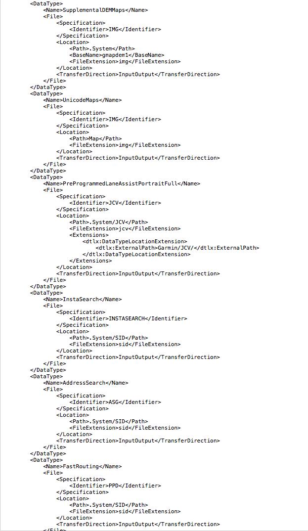 Nomenclature des fichiers sur le Zumo 590