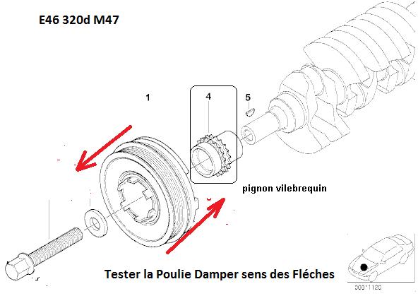 [ BMW E46 320D M47 an 2001 ] Claquement moteur