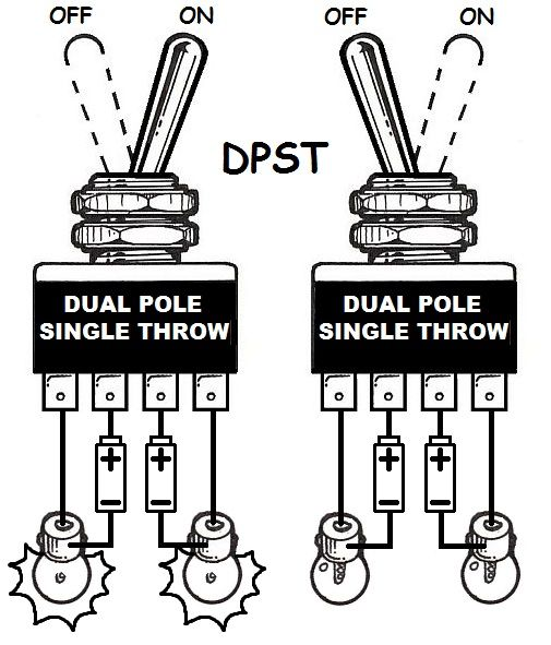 2 pole 2 throw switch diagram
