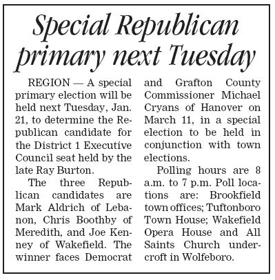 Don't forget to vote Tuesday