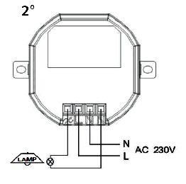 Branchement module plafonnier (avec variateur) [54524]