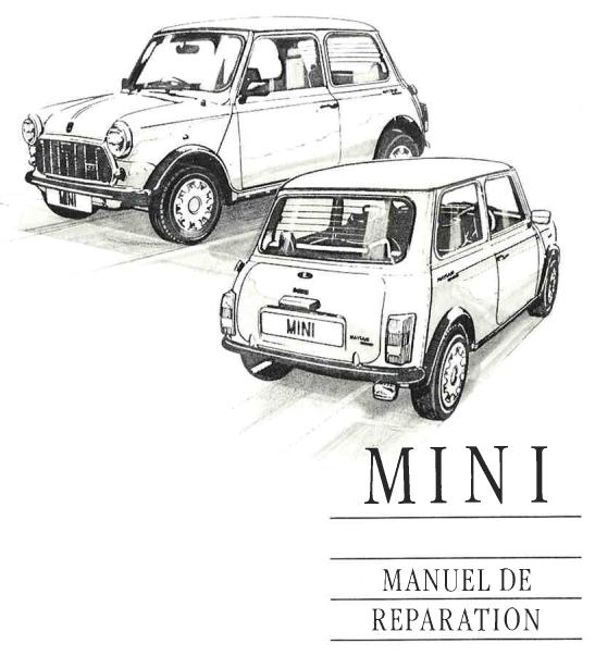 Manuel de réparation Austin Mini Rover de 1976 à