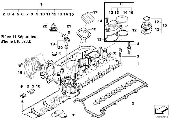 [ BMW E46 320d an 2002 ] remplacement du séparateur d'huile