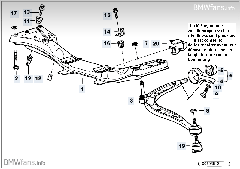 [ BMW E36 M3 3.0 an 1995 ] Remplacement silent-blocs