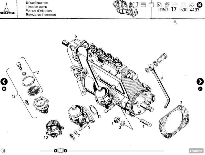 Pompe alimentation bosh Deutz F4L912